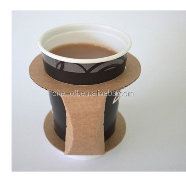 Coffee holder paper cups with plastic lids disposable