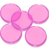 Customized 3/4inch 1.5mm thick acrylic translucent pink bingo