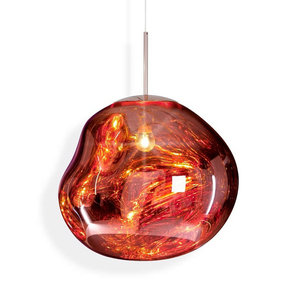 Nordic Design Modern Glass Decorative Red Silver Yellow Chandelier Hanging Pendant Lamps for Home Decor Pendant Light Dining L