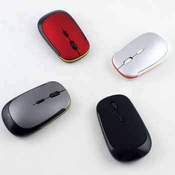 2018 best seller 2.4GHZ 4 buttons 1000dpi mini Rechargeable wireless mouse for PC Laptop