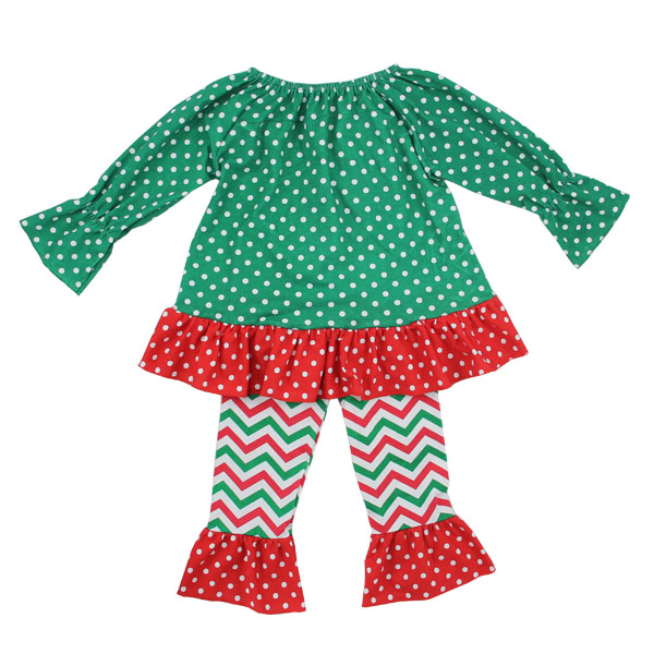 new arrival boutique girl cotton clothing set fashion kids girl cotton frocks design christmas kids clothing wholesale
