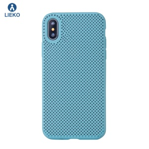 high quality liquid silicon phone case with mesh design for iphone X10 mesh liquid silicon cellphone case