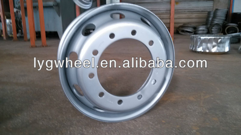 22.5x8.25 truck wheel with tyre 11r22.5, industrial wheels for minging truck