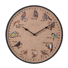 Excellent Quality Art Resin Wall Clock with 12 Bird Sound for Decor