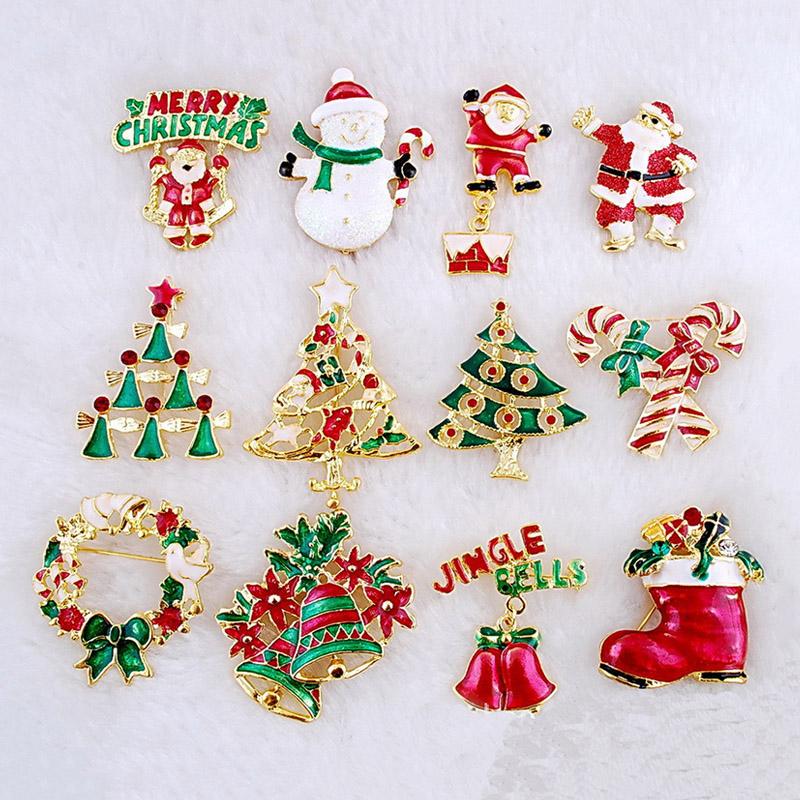Christmas Theme Christmas Ornaments Broochpin santa Claus Angel
