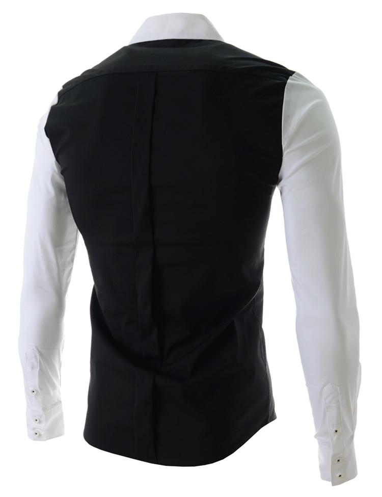 ad060179cf83 New 2015 Korean Fashion Shirt Men S Long Sleeved Shirt Slim Fit ...