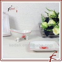 White Glaze Ceramic soap dishes for showers