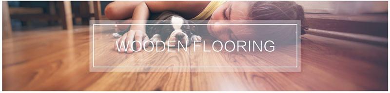 High quality best price matt EIR photo laminate wood look flooring with green certify