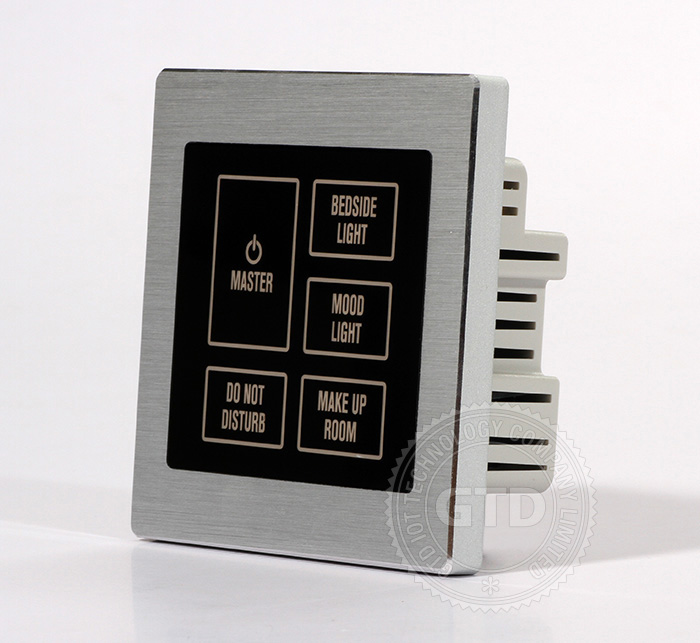 Star Hotel Master Touch Switch Bedside Control Panel View