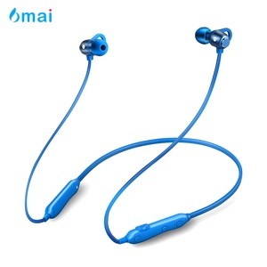 6mai Lightweight Neckband Sport Wireless Bluetooth Headphone with Mic for Running Cycling Gym Travelling
