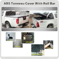 For TRUCK 2015- HILUX/VIGO/REVO/RANGER/TRITON/NAVARA/D-MAX/BT-50 ACCESSORIES ABS Tonneau Cover With Roll Bar