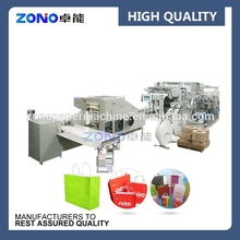 Wenzhou bag making machine, square bottom paper bag making machine with handle