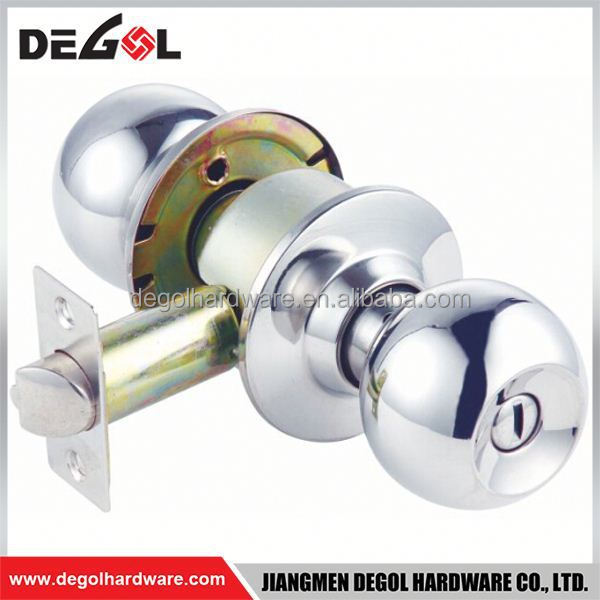 Cheap european interior room cylindrical lever popular tubular round door knob lock