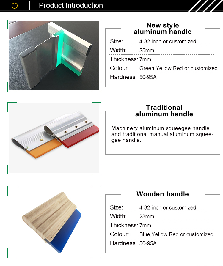 Zeefdruk aluminium wissergreep, zuigmond houder