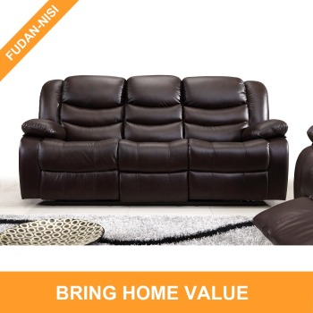 2017 new design brown leather 3-seater recliner sofa set furniture, View  2017 new design brown leather recliner, FUDAN-NISI Product Details from ...
