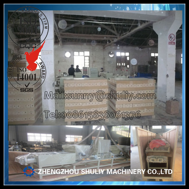Automatic hot press compressed wood sawdust block making machine with crusher, dryer
