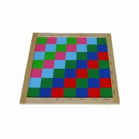 baby wood toys other educational toys Montessori square check board chopping drawing board
