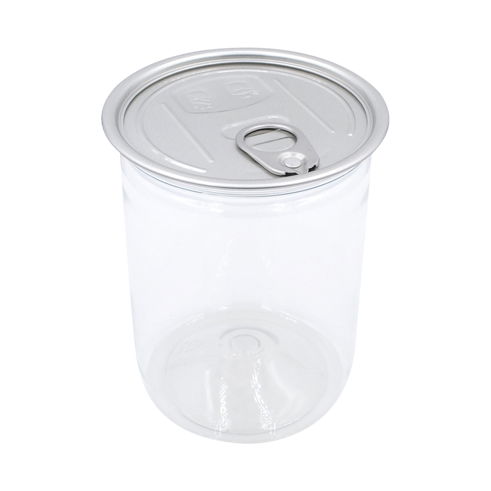 stash cans plastic clear PET 550ml empty tin cans for food canning