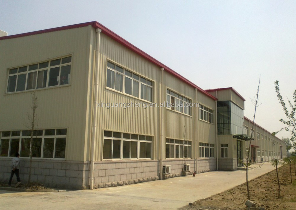 heavy steel warehouse construction building with skylights