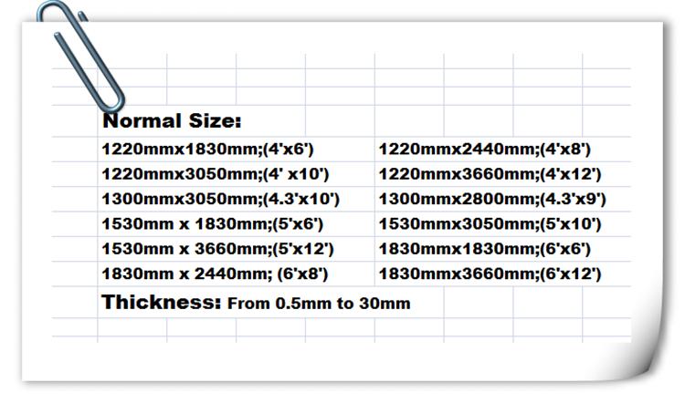 Laminated Board Sizes ~ Hpl compact laminate type korean sheet for furniture buy