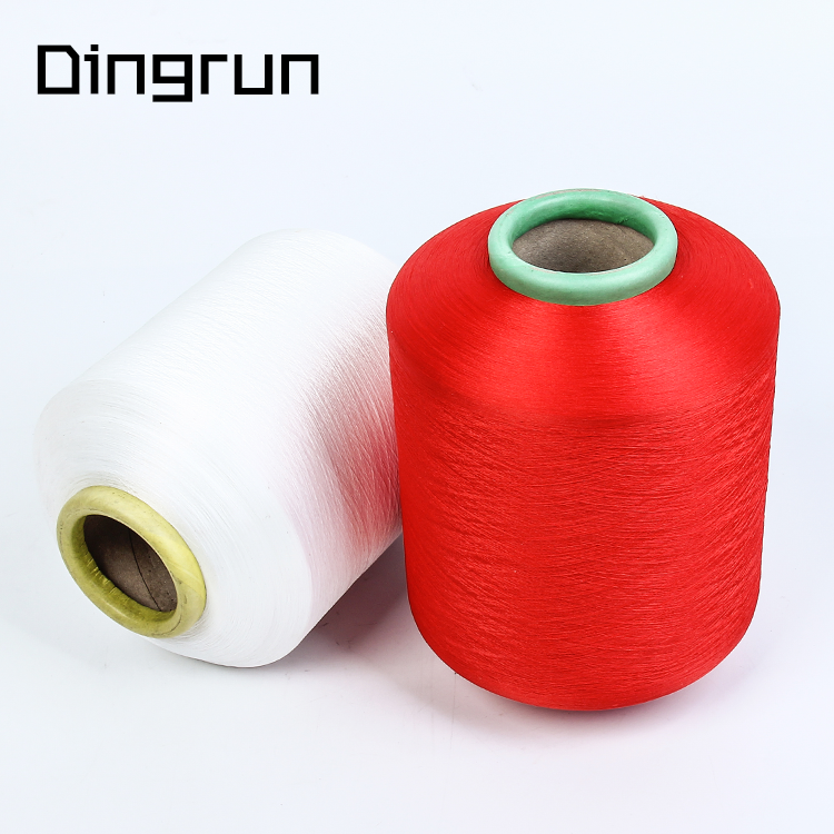 Wholesale yarn factory polyester dyeing twist yarn 100 poly supn yarn