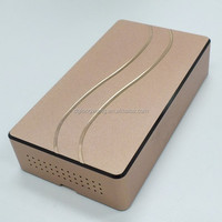 Polishing and sand blast anodized aluminum parts for electronic cigarette