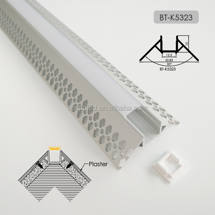 2020  New Plaster Corner Recessed Drywall Mount Premium Led Aluminum Profile/ LED drywall channels