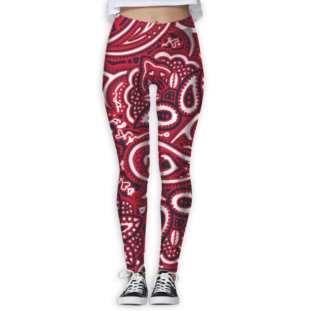 45b9eee48fa Get Quotations · Red Paisley Bandana Women s 3D Printing Yoga Leggings  Pants Sport Capri Leggings Workout Pants Gym Tights