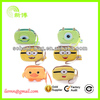 super cute cartoon minions wrist bag for change