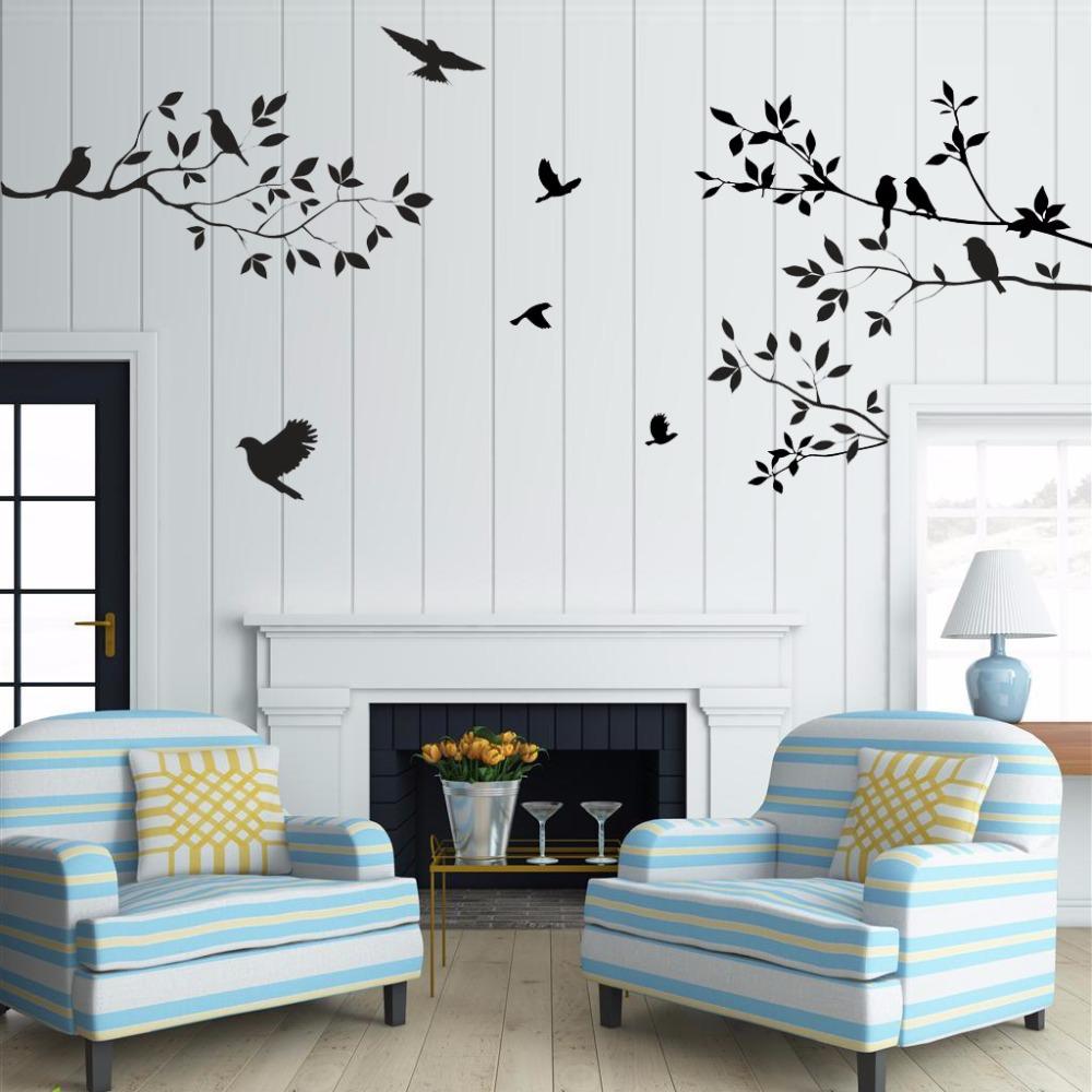 Sale birds tree wall stickers home decor living room diy - Removable wall stickers living room ...