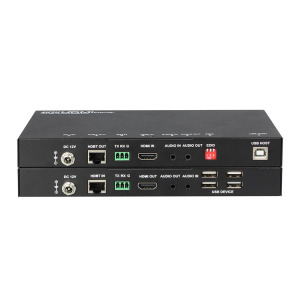 100M 4K 60Hz UHD Video HDBaseT 2.0 4 Ports USB HDMI KVM Extender