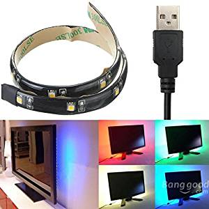dipshop LED Strip 30CM Light 3528 Waterproof With USB Port Cable Super Bright DC 5V ( Pure white )