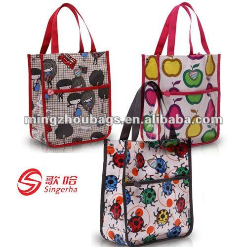 2012 Hot New Style Girl School Tote Bags With Cotton