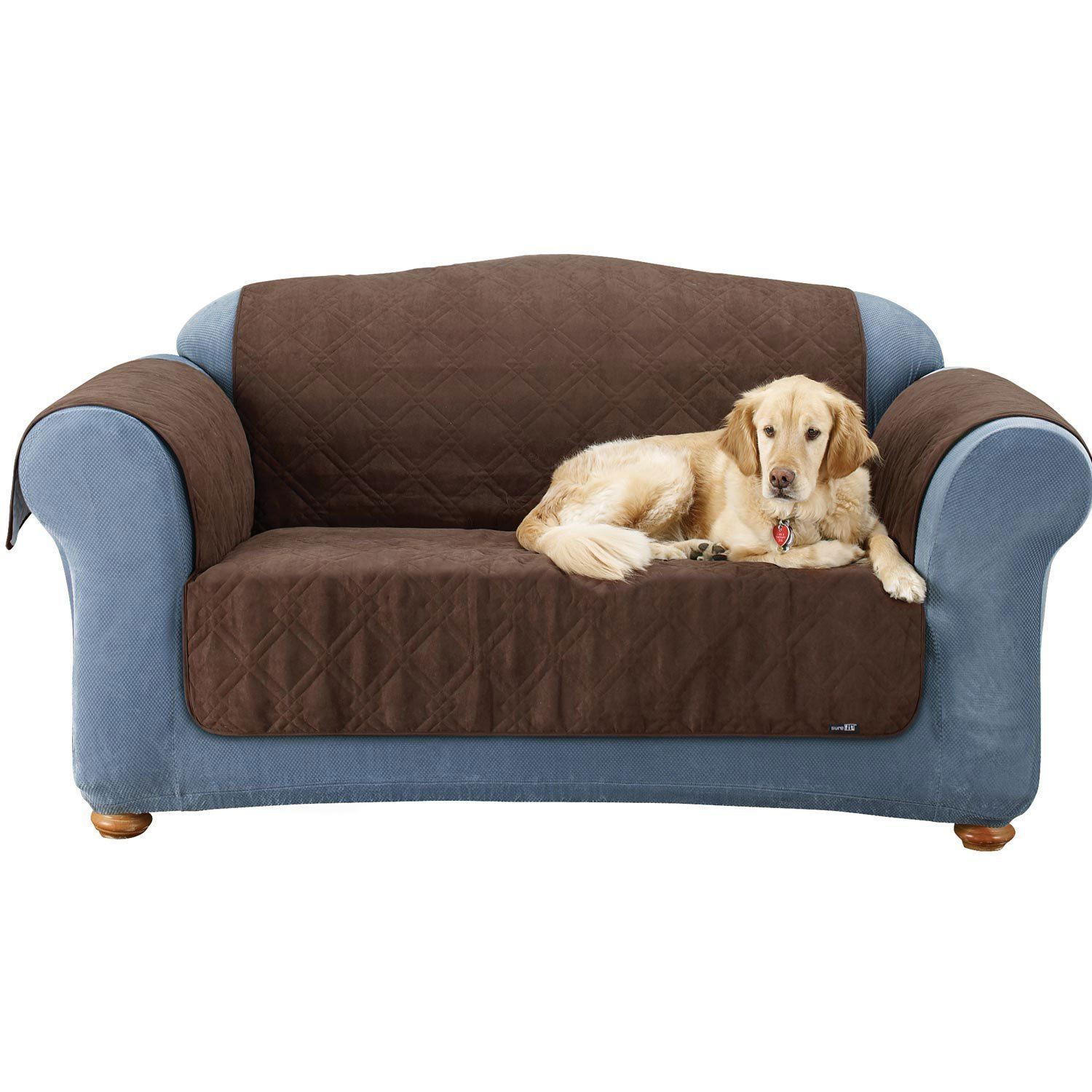 Quilted Suede Sofa Protector Pet Throw Cover