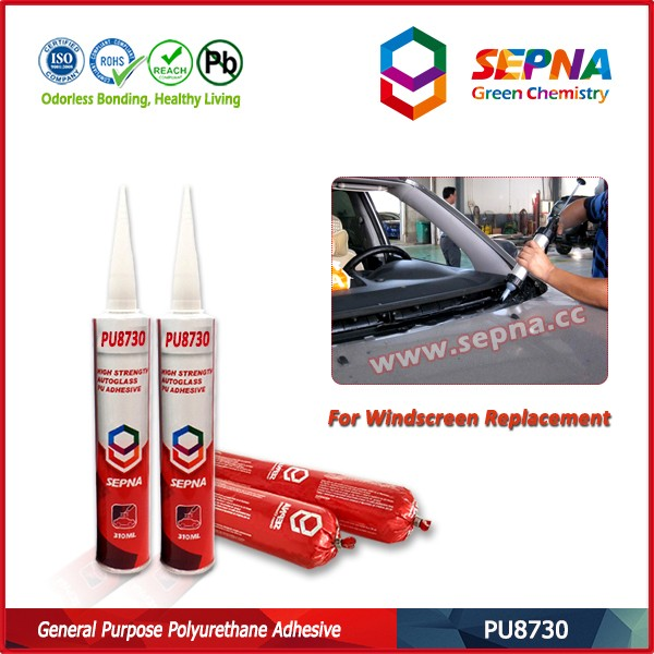 car windscreen one component direct glazing polyurethane adhesive PU8730 para vidrio automotriz