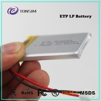 Customized rechargeable li-ion battery 3.7v 1000mah rc helicopter lipo battery