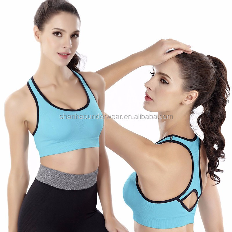 Women's Racerback Sports Bras Padded Seamless High Impact Support for Yoga Gym Workout Fitness