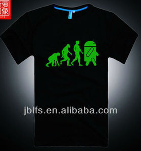 fashion clothing latest new glow in the dark t-shirt for men 2013 summer