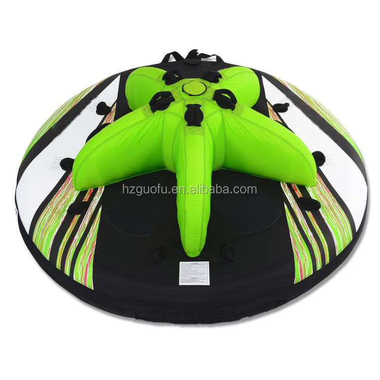 Customized 5 Person Hexagon Inflatable Towable Ski Tube For Sea Water Sports