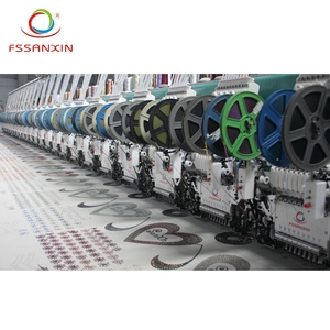 24 head flat embroidery machine computerized with cording device