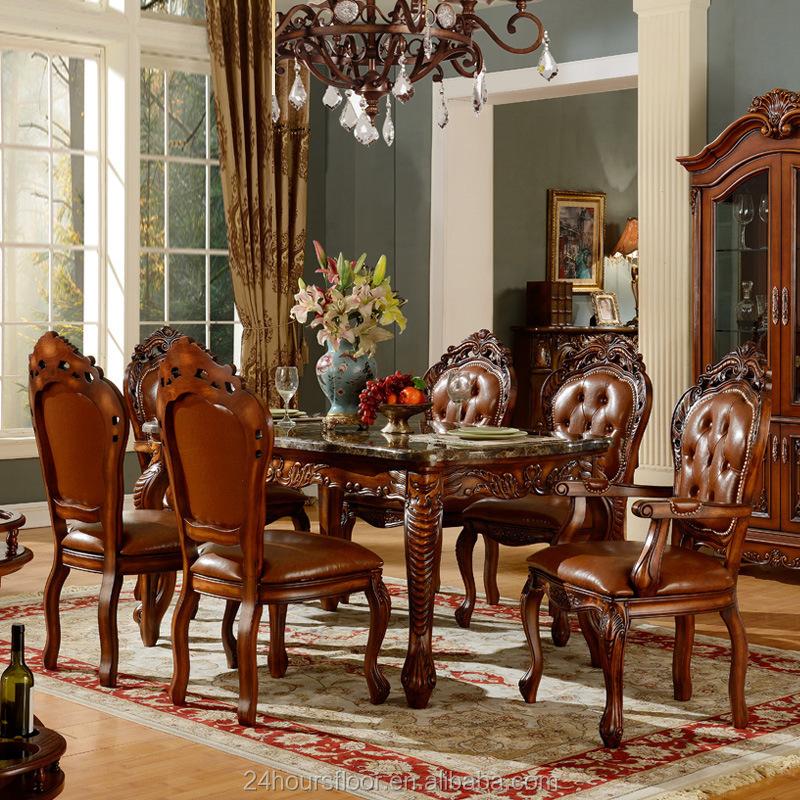 Royal de luxe classique en bois salle manger meubles for Salle a manger de luxe