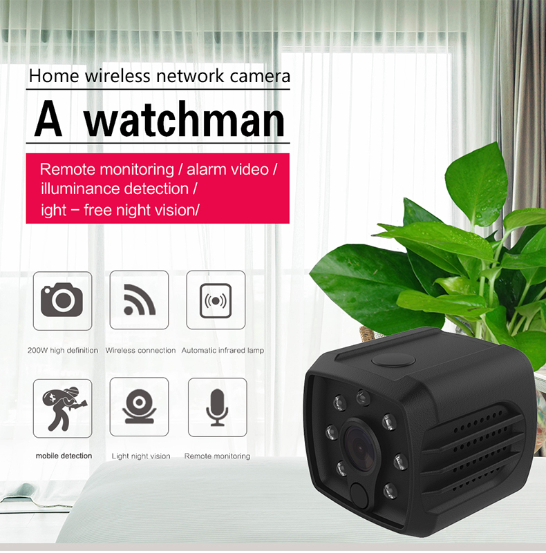 HD 1080P Maximum Support 128G Storager IR IP Sport Portable Wifi Wireless IP Very Very Small Hidden Camera with Night Vision