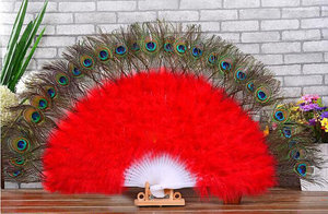 FK Feather Wholesale Large Peacock Feather Fans Wedding