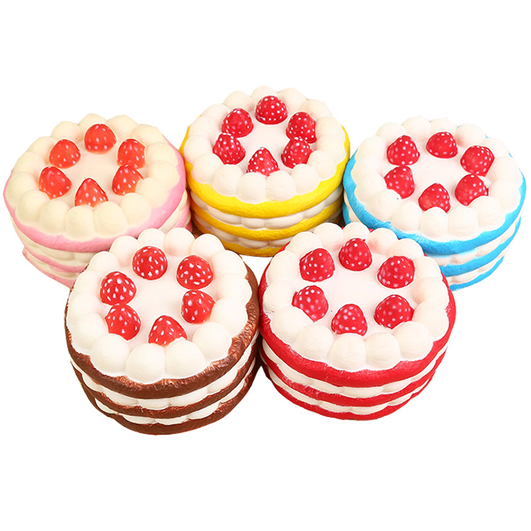 Stress Reliever Big Strawberry cake Super Slow Rising Simulation Squishy hobbies toys For Kids and Adults