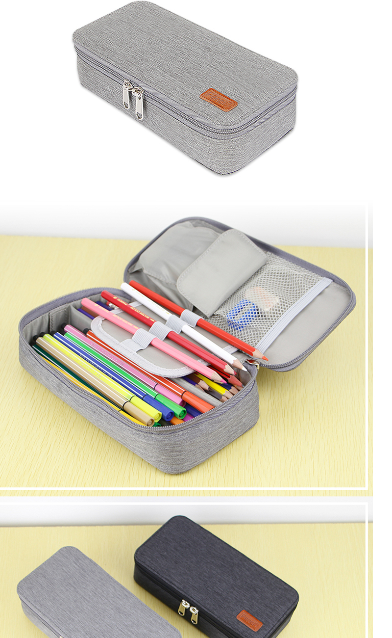 Case Unicorn Custom Pvc School Print Leather Silicone Roll Up Pencil Pen Bag