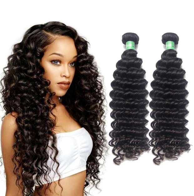 Best selling products deep curly Brazilian hair bundles with closure lace  virgin curly weave women s hair 3707ab0a03