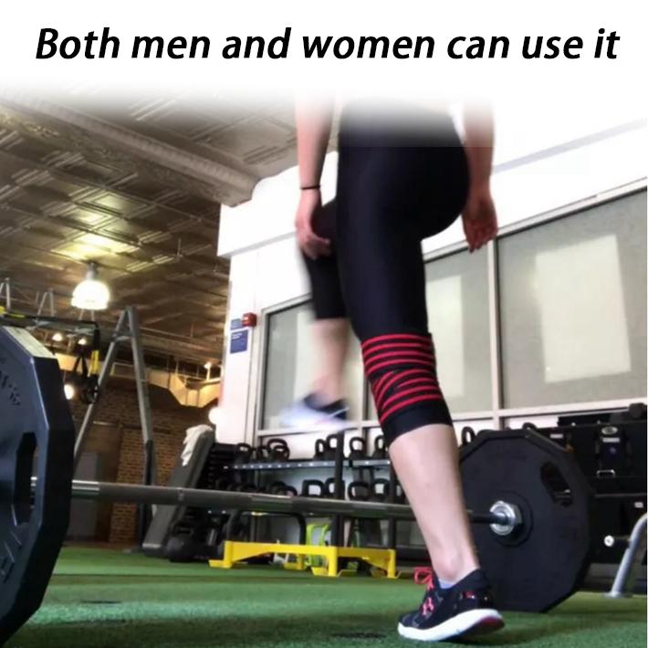 Aangepaste Gewichtheffen Fitness Knie Wraps Powerlifting Knee Wraps