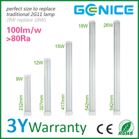 15w pll led lights 2g11 4-pin 36w fluorescent lamp replacement