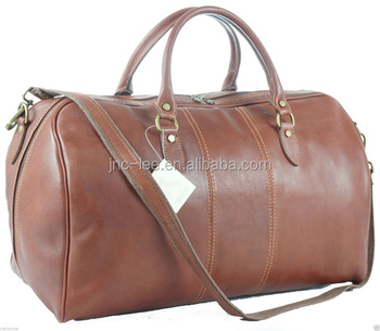 be5bdce81f6e High End Vegetable Tan Leather Tote Bags Travel Duffel Bag - Buy ...