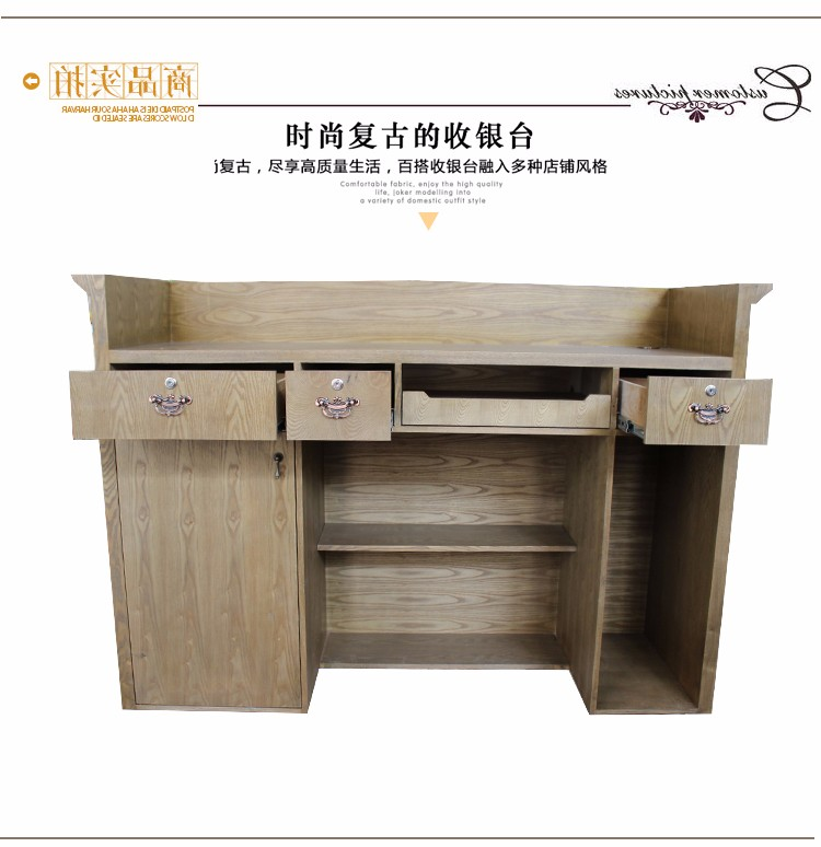 Guangzhou Supplier Modern Wood Cloth Shop Cash Restaurant Office Counter  Table Design For Sale